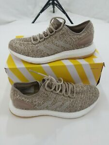 8610d9f5fcfaa Image is loading ADIDAS-PURE-BOOST-khaki-sz-10-new-with-