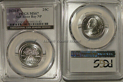 2020 S Salt River Bay NP Quarter 25c PCGS MS67 FIRST STRIKE Not a W Mint