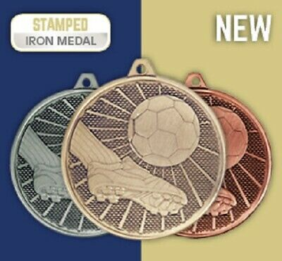 High Quality Gold Football Medals   FREE Selection of Ribbons   FREE Engraving