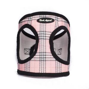 Bark-Appeal-EZ-Wrap-Plaid-Mesh-Dog-Step-In-Harness-Pink-Sizes-XXS-XXL