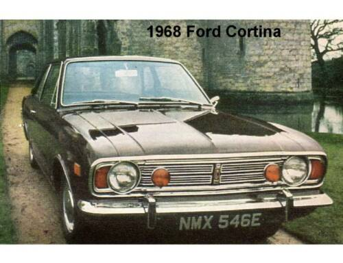 Tool Box Magnet Man Cave Gift Card Insert 1968 Ford Cortina Auto Refrigerator