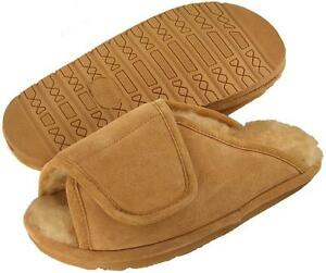 Ciabatta-039-s-Men-039-s-After-Surgery-Adjustable-Strap-Shearling-Lined-House-Shoe