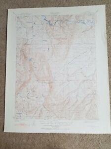 Large-22x29-Vintage-1927-USGS-Topo-Map-Mount-Harris-Colorado