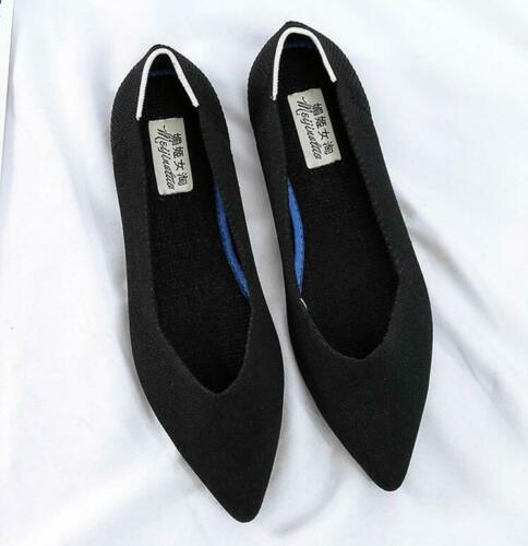 Details about  /Pointed Toe Flats Environmental Women Shoes SIZE US 4-12 Black Red Leopard Girls