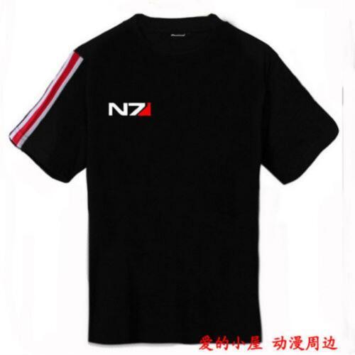 N7 Cosplay John·Shepard Mass Effect 3 T-shirt en 100/% coton