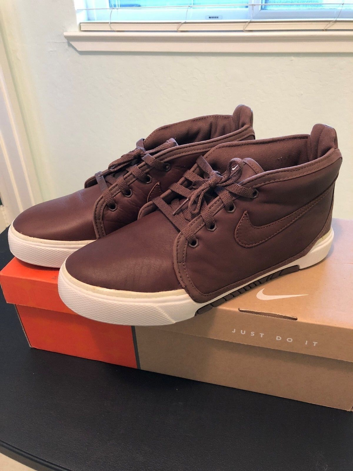 Nike Air Sabaku Mid Premium Brown Leather Mens 8 BNIB Deadstock