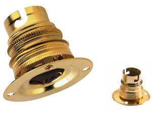 1 cache douille laiton 19 x 39 mm trou de 10,5 mm lampe lustre applique demi sph