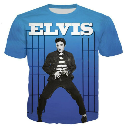 Hot Star Elvis Presley 3D Print Casual T-Shirt Men Women Short Sleeve Tee Tops