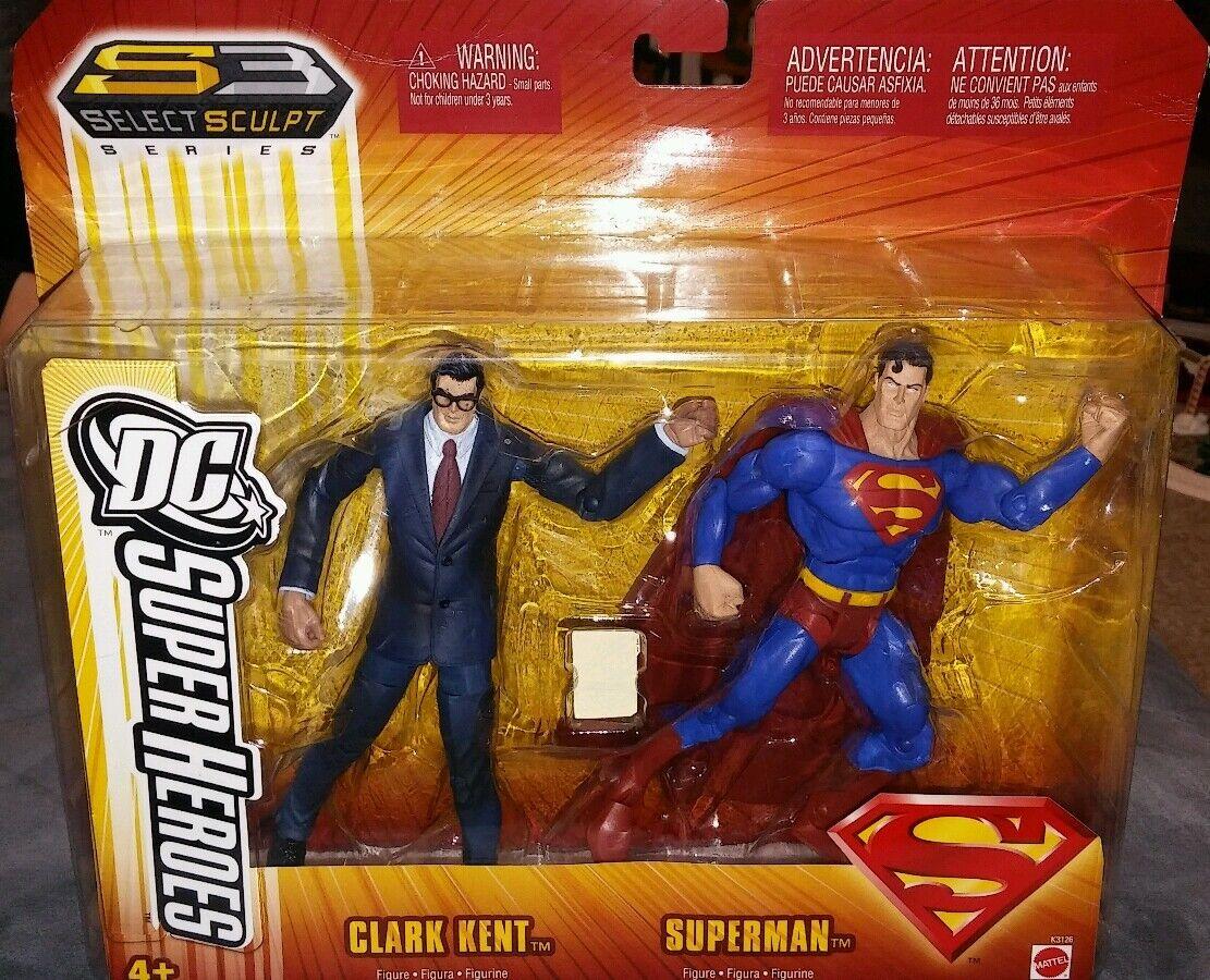 DC Super Heroes Clark Kent  & Superhomme Action Figure S3 Select Sculpt Series  livraison rapide et livraison gratuite sur toutes les commandes