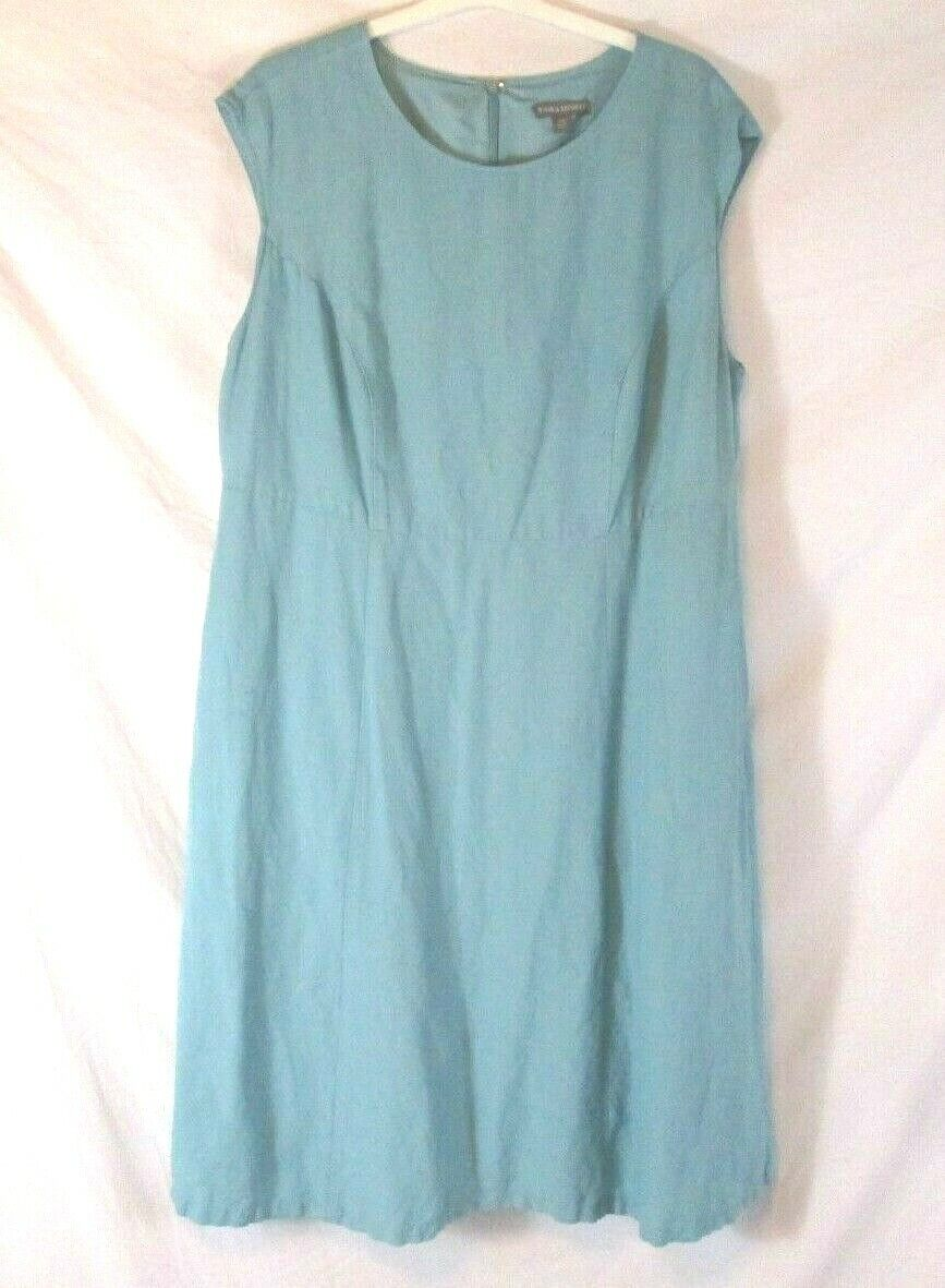 Jessica London damen Linen Blend Spring Dress Blau Sz 20W Easter Lined BB247