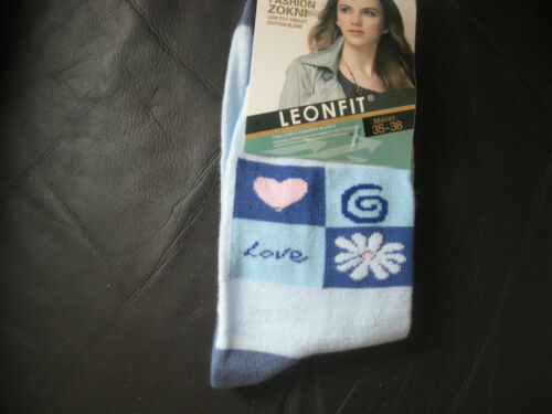 sizes 3-5 or 5-7,Love Logo pattern Ladies//Girls cotton socks by Leonfit