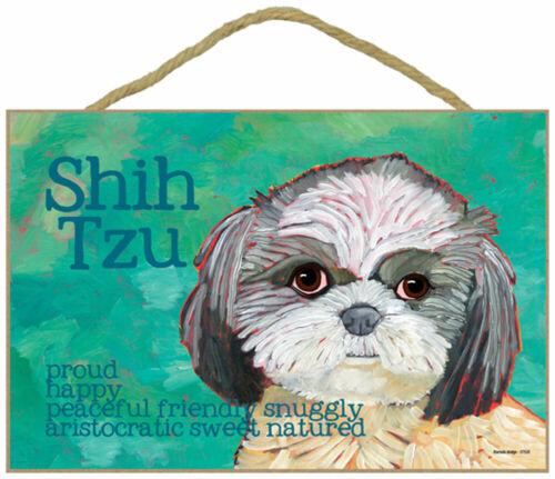 Shih Tzu Traits /& Characteristics Sign 7.5 x 10