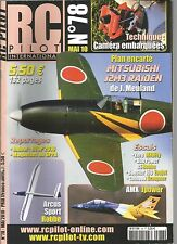 RC PILOT N°78 PLAN : MITSUBISHI J2M3 RAIDEN / TECHNIQUE : CAMERA EMBARQUEES