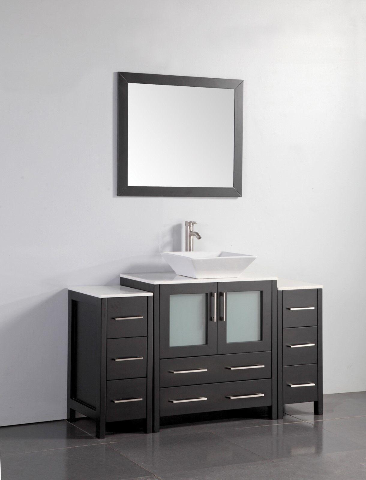 54 Inch Single Sink Bathroom Vanity Set Tiendamia Com