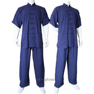 Summer-Lightcotton-Shortsleeves-Tai-chi-Uniform-Kung-fu-Wing-Chun-Wushu-Suit