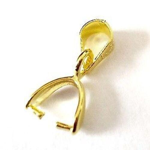 10 X Chapado en Oro Bolas Para Colgantes-A5644