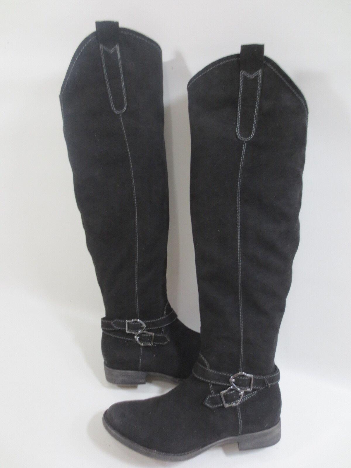 TOP Langschaft Stiefel TAMARIS 37 Optik Velour Leder-IMITAT black  100