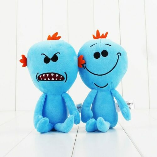 Rick /& Morty Mr Meeseeks Happy /& Angry Plush Soft Toys 23cm #RickandMorty Fan