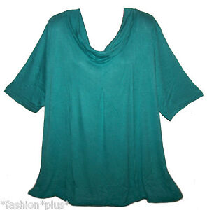 Plus-Size-Top-Cowl-Neck-Short-Sleeve-So-Comfy-NWT-18-22-24-26-30-32