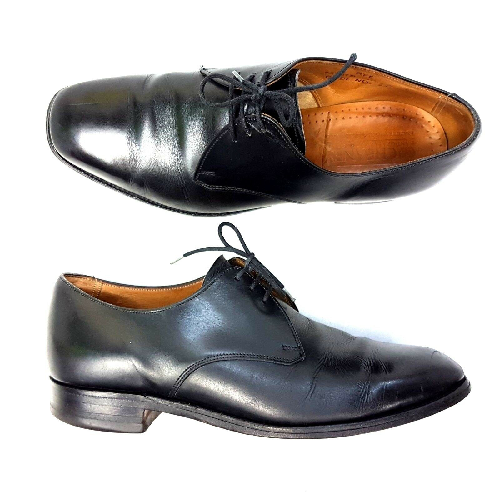 Cheaney Mens shoes Black Formal Plain Brogues Rye 1978 E Oxford UK Size 8
