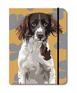 Springer Spaniel Gundog Design A6 Pocket Notepad notebookShooti<wbr/>ng Gift