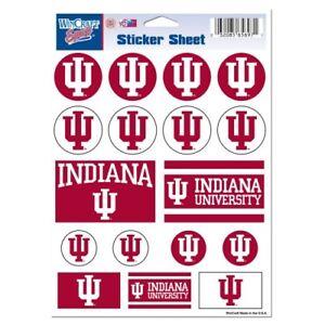 Decal Sheet *Free Shipping Indiana Hoosiers Vinyl Die-Cut Sticker Set