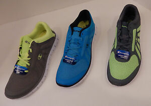a8035e577fe CHAMPION MENS GUSTO RUNNER SIZES 7 TO 15 WHITE BLUE GREEN BLACK GRAY ...