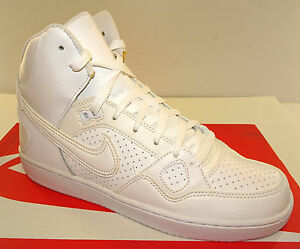 NIKE-Son-Of-Force-Mid-Men-039-s-White-Athletic-Shoe-NWD
