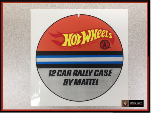 Hot Wheels /'12 Car Rally Case/' Reproduction BACK Sticker Sheets 1968RCB