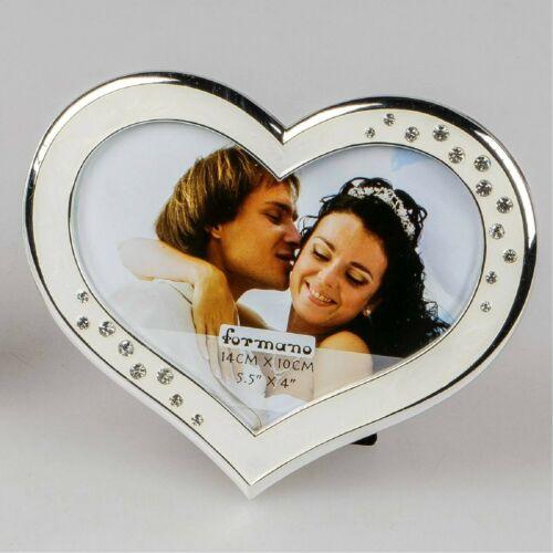 Cadre photo cadre photo Wedding dans Valentin pour 10x15cm Blanc Argent d/'Art Formano