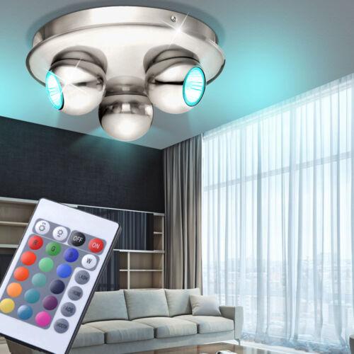 RGB LED Rondell Decken Lampe Fernbedienung Wohn Zimmer Kugel Strahler Living-XXL