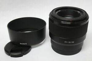 SONY-FE-1-8-50-mm-Objektiv-fuer-SONY-E-Mount-gebraucht