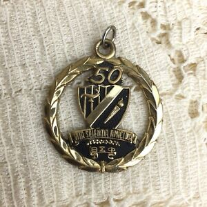 Vintage-Beta-Sigma-Phi-Sorority-1981-Golden-Anniversary-Medallion-Pendant-Charm