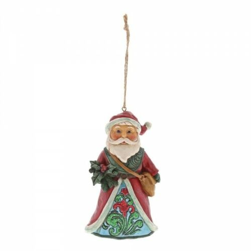 Jim Shore Hanging Ornement Hiver Wonderland Santa Enesco Heartwood 6001424