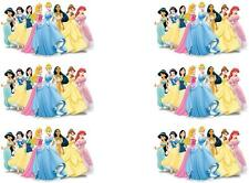6 X DISNEY PRINCESS MINNIE/SMALL IRON ON T SHIRT TRANSFERS LIGHT/WHITE FABRICS