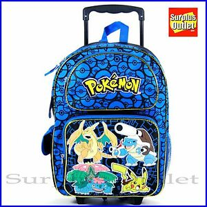 "Pokemon Rolling Backpack 16"" Large School Rolling Backpack ..."