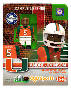 ANDRE JOHNSON MIAMI HURRICANES OYO MINIFIGURE BRAND NEW FREE SHIPPING