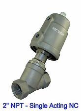 2 Inch Pneumatic Air Actuated Angle Seat Valve Single Acting Spring Return Nc
