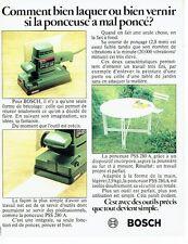PUBLICITE ADVERTISING 0217  1982  la ponceuse PSS 280A Bosch