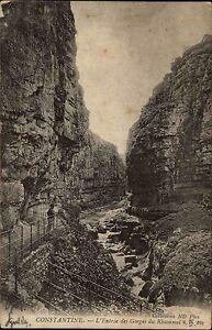 Constantine-Algerien-AK-und-Stempel-1904-gelaufen-Eingang-Gorges-du-Rhummel