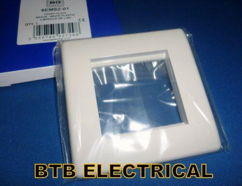 BG 2 Module Nexus Front Plate White 8EMS2
