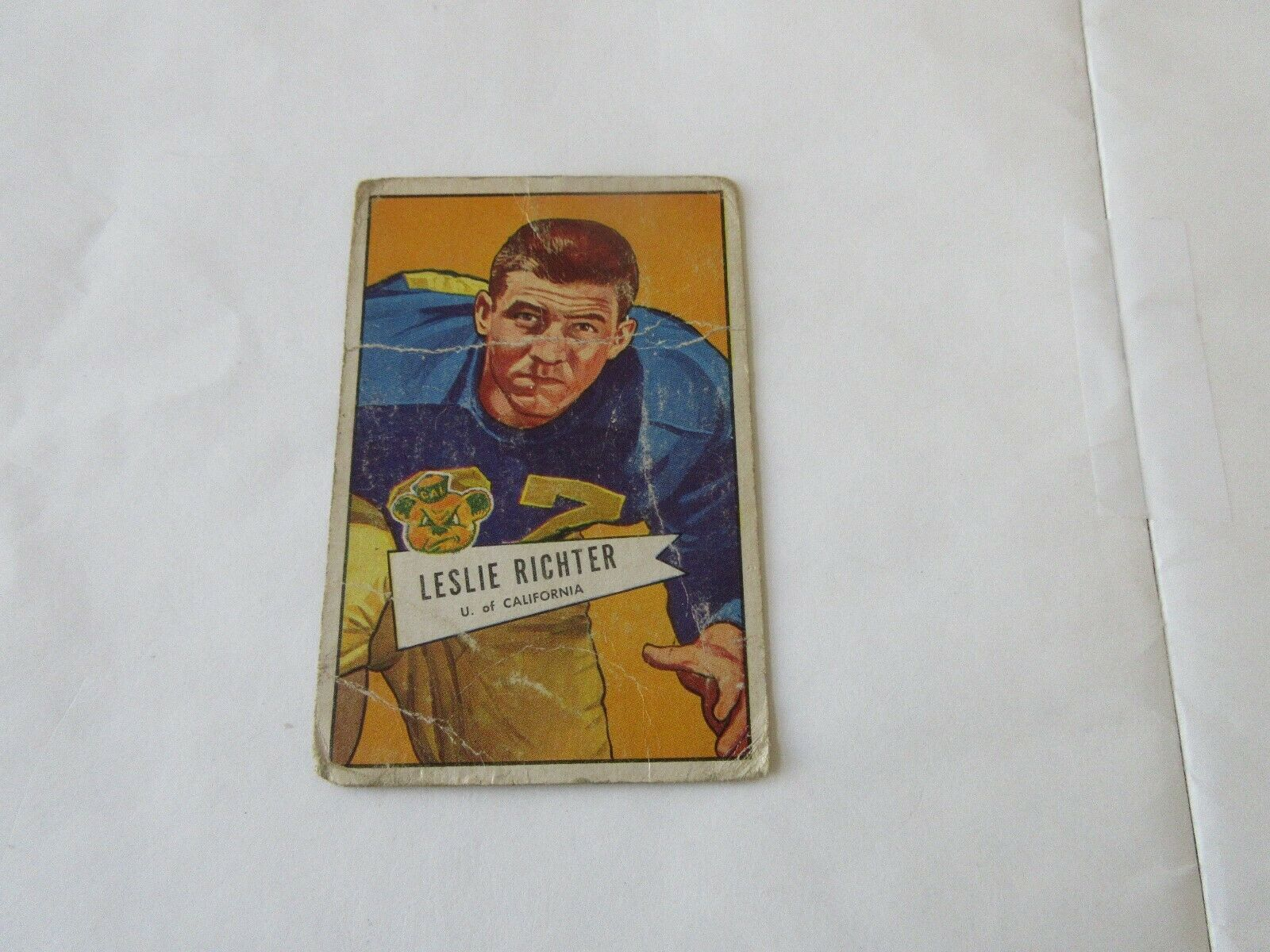 1952 Bowman Football Cards , Leslie Richter # 61 & Jero