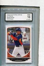 2013 Bowman Card George Springer ROOKIE Houston Astros GRADED GEM 10 # TP20
