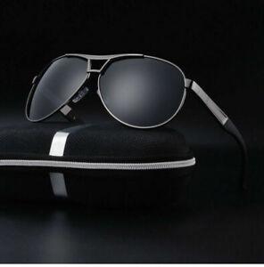 Mens-Polarized-Sunglasses-Retro-Metal-Outdoor-Aviator-Glasses-Driving-Eyewear-CH