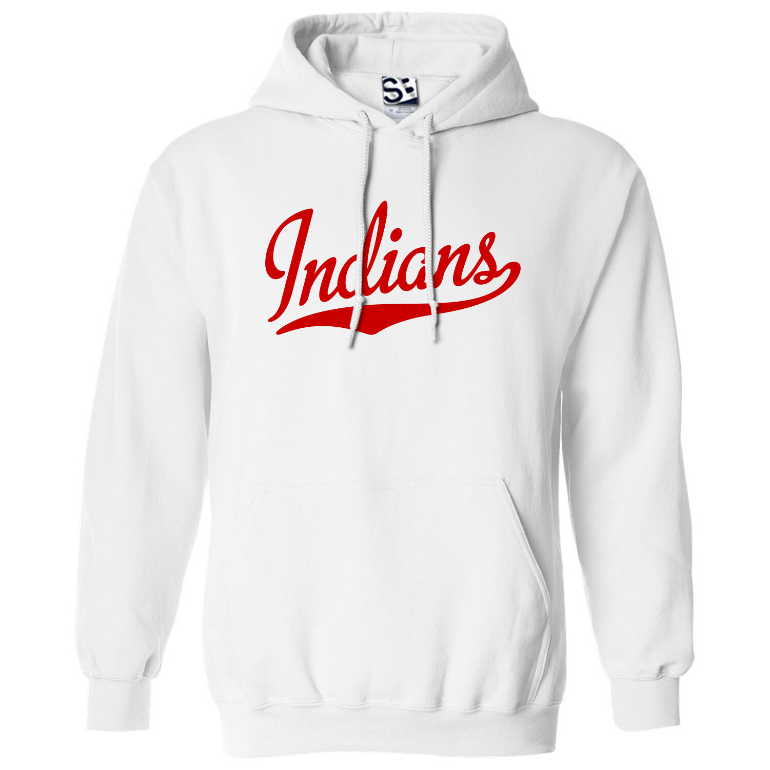 Indians Script & Tail HOODIE - Hooded School Sports Team Sweatshirt - All Farbes