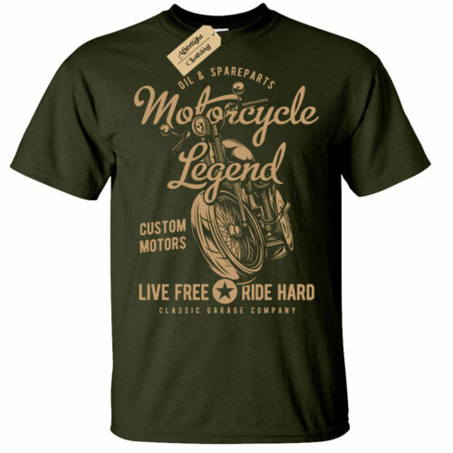 Motorrad Legende T-Shirt Herren Biker Top Motorrad
