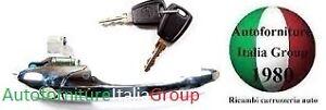 MANIGLIA APRIPORTA ANTERIORE SX EST CROMATA C//FORO FIAT 500 07/> 3P 2007/>