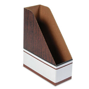 Corrugated-Cardboard-Magazine-File-4-x-9-x-11-1-2-Wood-Grain-12-Carton