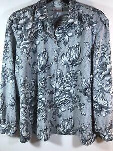 Tan-Jay-20w-gray-black-floral-shoulder-pads-blouse