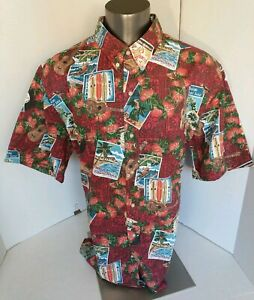 Reyn-Spooner-Mele-Kalikimaka-Christmas-2017-Red-Mens-Hawaiian-Shirt-3XL-XXXL-EUC